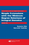 Oda S. — Simple Extensions with the Minimum Degree Relations of Integral Domains