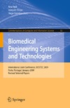 Fred A., Filipe J., Gamboa H. — Biomedical Engineering Systems and Technologies