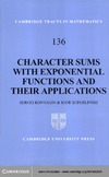 Konyagin S., Shparlinski I. — Character Sums with Exponential Functions and their Applications