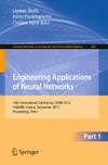 Iliadis L., Papadopoulos H., Jayne C. — Engineering Applications of Neural Networks: 14th International Conference, EANN 2013, Halkidiki, Greece, September 13-16, 2013 Proceedings, Part I