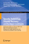Fang W., Khan M., Arnett K. — Security Technology, Disaster Recovery and Business Continuity