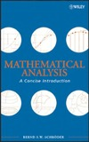 Schroder B. — Mathematical analysis: a concise introduction