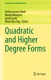 Bhargava M., Savitt D., Alladi K. — Quadratic and Higher Degree Forms