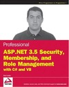Haidar B. — Professional ASP.NET 3.5 security, membership, and role management with C# and VB