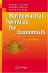 Luderer B., Nollau V., Vetters K. — Mathematical Formulas for Economists, Third Edition