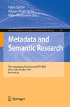 Sartori F., Sicilia M., Manouselis N. — Metadata and Semantic Research: Third International Conference, MTSR 2009, Milan, Italy, October 1-2, 2009. Proceedings (Communications in Computer and Information Science)