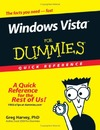 Harvey G. — Windows Vista For Dummies Quick Reference (For Dummies (Computer/Tech))