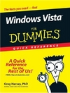 Harvey G. — Windows Vista For Dummies Quick Reference