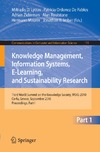 Lytras M., Pablos P., Ziderman A. — Knowledge Management, Information Systems, E-Learning, and Sustainability Research, Part I