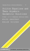 Gesztesy F., Holden H. — Soliton Equations and their Algebro-Geometric Solutions: Volume 1, (1+1)-Dimensional Continuous Models (Cambridge Studies in Advanced Mathematics)