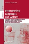 Gordon A. — Programming Languages and Systems: 19th European Symposium on Programming, ESOP 2010, Held as Part of the Joint European Conferences on Theory and Practice ... Computer Science and General Issues)