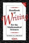 Higham N. — Handbook of writing for the mathematical sciences