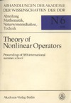 Kluge R. — Theory of nonlinear operators. Proceedings of fifth international summer school
